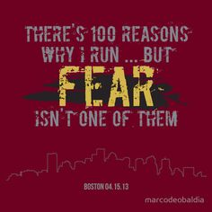 """""""There's 100 reasons why I run, but fear isn't one of them. I Love To Run, Why I Run, Run Like A Girl, Just Run, Just Do It, Running Jokes, Keep Running, Running Workouts, Running Motivation"""