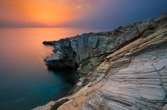 Sunset, Andros Island, Greece