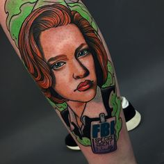 *whistle's theme song* Xfiles stylised portrait of scully for Samantha today. Thank you so much! ***************************************** #tattoo #tattoos #londontattoo #shoreditch #bricklane #neotraditionaltattoo #neotradtionalportrait #portrait #portraittattoo #xfiles #scully