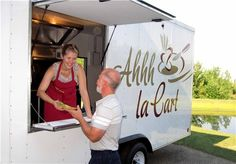 "Ahhh la Cart - A delicious mobile kitchen (gourmet food truck) serving the Finger Lakes area of Upstate New York (NY)--also known as ""Wine Country."" The truck travels to events but can usually be found at Lakewood Vineyards on Seneca Lake near Watkins Glen."