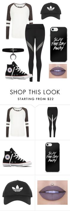 """""""Black and white"""" by sharon-sirare on Polyvore featuring Superdry, Michi, Converse, Topshop and Jeffree Star"""