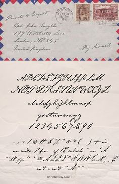 Emily Austin font - handwriting of the indomitable Emily Austin, one of the earliest colonists of Texas.