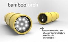 The power of bamboo torch flashlight design by Jordan Koroknai