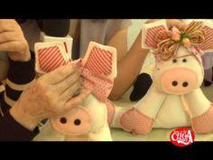 Cibélia Alves ensina montar uma porquinha em Feltro.