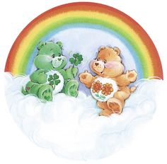 Care Bears: Good Luck and Friend Bear 1980s Childhood, Childhood Memories, Barbie Tattoo, Care Bear Tattoos, Care Bears Vintage, Hello March, Rainbow Brite, Plush Animals, Cute Illustration