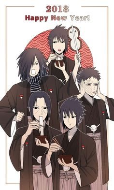 Izuna, Madara, Obito, Itachi, & Sasuke Uchiha