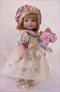 ann estelle doll pictures   Multi-stripe fabric used for piping along sleeve cuff and collar edge ...