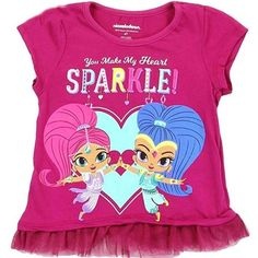 Shimmer and Shine Toddler Girls S//S Top 2pc Skort Set Size 2T 3T 4T