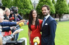 MYROYALS&HOLLYWOOD FASHİON:  Engagement of Prince Carl Philip and Sofia Helqvist, June 27, 2014.  The couple talk with the press.