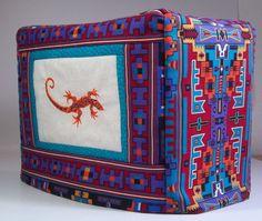 Toaster Cover  Southwestern Lizard 2 slice by PatsysPatchwork, $18.00