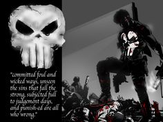 The Punisher from Marvel Comics The Punisher Quotes, Marvel Dc, Marvel Comics, Punisher Marvel, Punisher Skull, Popeye Tattoo, Frank Castle Punisher, Poem About Death, Comic Art