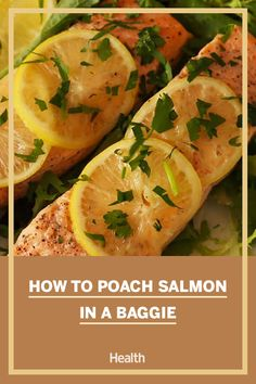 Poaching salmon is one of healthiest ways to prepare this delicious fish. Watch this video to learn a creative trick for poaching juicy flavorful salmon. Healthy Eating Recipes, Nutritious Meals, Healthy Snacks, Healthy Dinner Recipes, Whole Food Recipes, Poached Salmon, Cooking Salmon, Eat Smart, Ground Beef Recipes