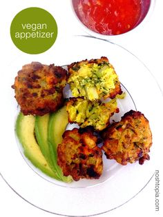 Vegetable Pakoras from Trader Joes, with chutney for serving