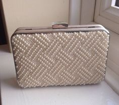 COAST Cream Ivory Pearl Beaded Clutch Bag Used Once RRP £60 Ideal For A Wedding #Coast #ClutchBags