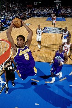Throwback Photo of the Day  A young Kobe Bryant rises up for a dunk during  the 1998 All-Star Game. Now let s play 863dfdfb5