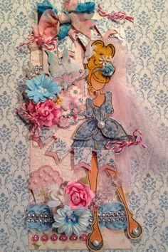 """Julie Nutting doll stamp """"Mindy"""" by Michelle Thomas"""