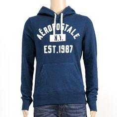 SALE  NWT aeropostale mens aropostale nyc script logo pullover hoodie BLUE XXL #Aeropostale #Hoodie