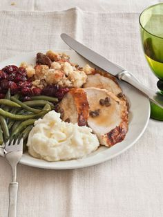 Chef Joe Randall's #Thanksgiving menus: Butter-Roasted Turkey, Cornbread Dressing with Sage, Creamy Mashed Potatoes, Sun-Dried Cranberry Salsa, and Southern-Style Green Beans