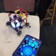 Awesome Sphero chariot made with K'nex #stewartmakes #makerspace @gosphero @knexbrands