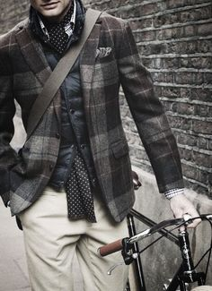 plaid tweed