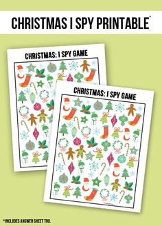 ☆ The perfect way to entertain the kids during all of the holiday travels! Christmas I Spy Printable -- with answer sheet! Preschool Christmas, Christmas Games, Noel Christmas, Christmas Crafts For Kids, Christmas Activities, Christmas Printables, Christmas And New Year, Winter Christmas, All Things Christmas