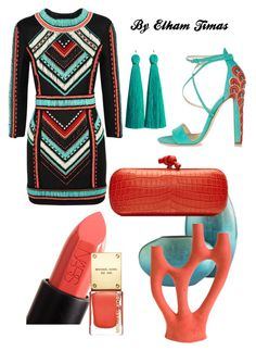 """""""Coral & turquoise"""" by fabulously-fab on Polyvore"""