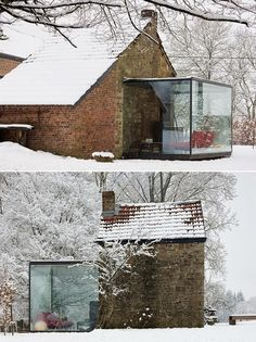 I need a glass room in my house Future House, My House, Glass Extension, Porch Extension, Cottage Extension, Porche, Glass Boxes, Glass Cube, House Extensions