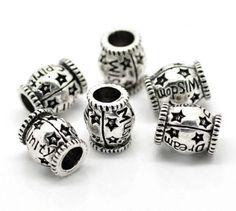 Antique-Silver-Barrel-Word-Message-Charms-For-Charm-Bracelets