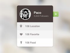Food tag / Paco #UI #app #design