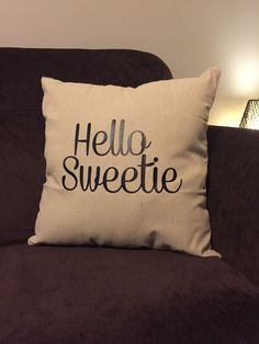 River Song Hello Sweetie pillow case Natural fiber pillow case. Does not include stuffing pillow. PILLOW CASE ONLY! Can do customs