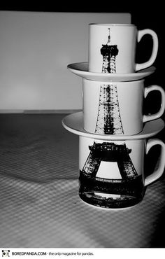 Eiffel Tower stacking cups :)