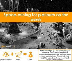 When will space mining become a viable market for investors?  #Spire #Spirethoughts #Spacemining #Platinum #Manufacturing #Investors