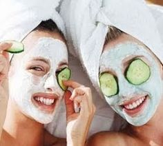 DIY- At home Facial. Five steps: cleansing, exfoliating, steaming, facial mask, lotion!