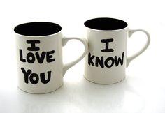 Han & Leia mugs
