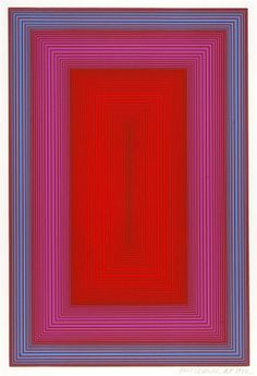 Richard Anuszkiewicz - Silent Red 1972 serigraph on paper 18 x 12 in. Smithsonian American Art Museum