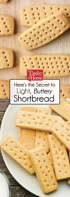 Here's the Secret to Light, Buttery Shortbread - food - Cookies Recipes Cookie Desserts, Just Desserts, Cookie Recipes, Delicious Desserts, Dessert Recipes, Yummy Food, Xmas Desserts, Plated Desserts, Christmas Recipes
