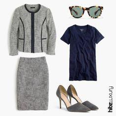 لأنك تحبين الأزياء، اختاري أجملها لإطلالتك في المكتب A reason to get excited about work? This outfit! #fashion #beauty #heels #turtlesunglasses #sunglasses #tshirt #simple #elegant #hitzluxury