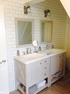 White subway tile master bath
