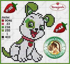 Strawberry shortcake dog cross stitch