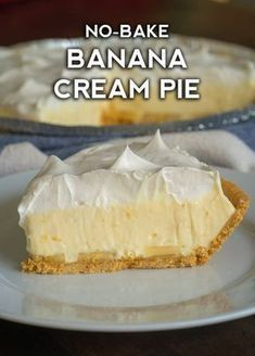 Banana Pie Recipe, Easy Banana Cream Pie, Banana Cream Pudding, Banana Dessert Recipes, Banana Pudding Cheesecake, Banana Pudding Recipes, Köstliche Desserts, Pie Dessert, Cheesecake Recipes