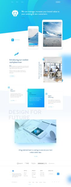 02 agency homepage design
