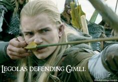 I know everyone talks about Frodo and Sam's friendship (which is so amazing) but let's not forget about Gimli and Legolas (and Aragorn even.) I love this part of the movie. <3