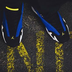 Top down.  The #AirJordan XIV Retro Low 'Varsity Royal' drops Saturday on Jordan.com.