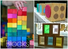 Make it for the kids... DYI TOYS! Color and texture blocks to make for kids