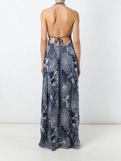 Diane Von Furstenberg Vestido longo de seda floral
