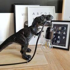 Criativo e ótimo DIY: Zelf een kinderlamp maken - Homefreak. Dinosaur Bedroom, Dinosaur Room Decor, Diys, Dinosaur Toys, Dinosaurs, Kids Decor, Home Decor, Boy Room, Diy For Kids