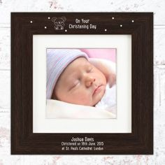 Personalised Luxury Large Box Frame - Teddy Design Unique Baby Gifts, New Baby Gifts, Gifts For Boys, Box Frames, Christening, Boy Or Girl, New Baby Products, Personalized Gifts, Luxury