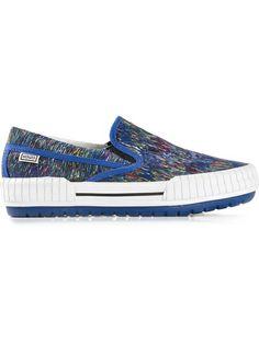 Kenzo 'Scribble' Slip-On Sneakers