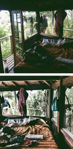 Forest hut bedroom