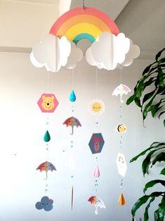 プーさん吊るし飾り(モビール)  #pooh #disny #mobile #rainbow #雨 #虹 #プーさん #モビール #雲 #clowd #DIY #crafts #クラフト Diwali Decorations At Home, Birthday Balloon Decorations, Balloon Crafts, Diy Home Crafts, Easy Diy Crafts, Easter Crafts For Kids, Diy For Kids, Luminaria Harry Potter, Baby Boy 1st Birthday Party